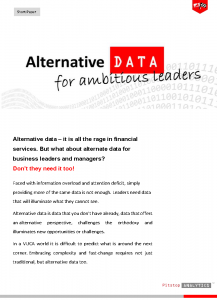 Alternative Data for Ambitious Leaders by Pitstop Analytics